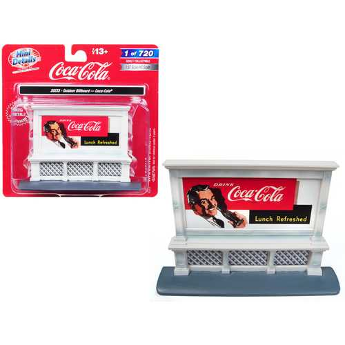 "Outdoor Billboard ""Coca Cola"" for 1/87 (HO) Scale Models by Classic Metal Works"