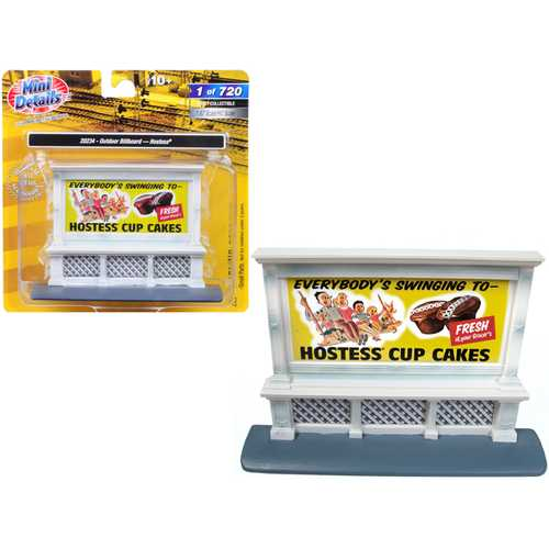 "Outdoor Billboard ""Hostess"" for 1/87 (HO) Scale Models by Classic Metal Works"