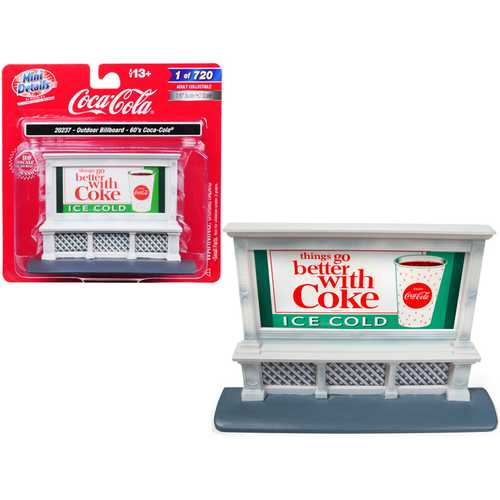 "Outdoor Billboard 60's ""Coca Cola"" for 1/87 (HO) Scale Models by Classic Metal Works"