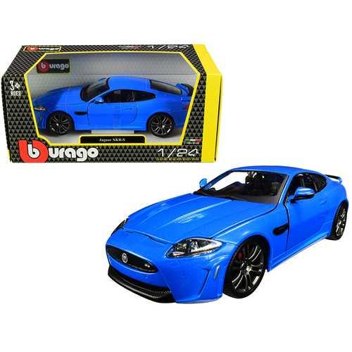 Jaguar XKR-S Metallic Blue 1/24 Diecast Model Car by Bburago