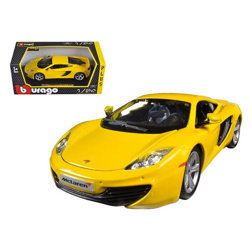Mclaren MP4-12C Yellow 1/24 Diecast Car Model by Bburago