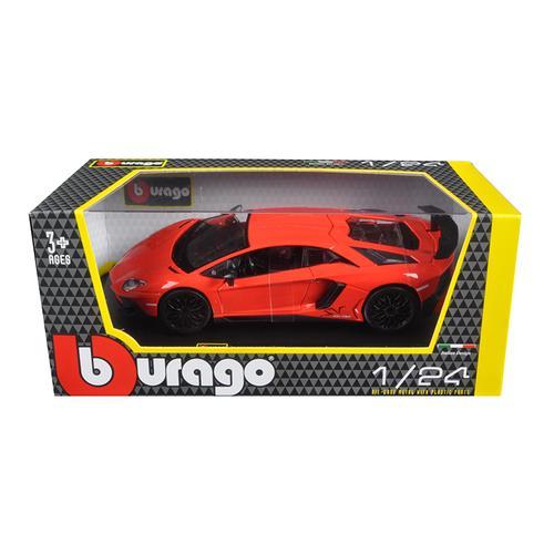 Lamborghini Aventador LP750-4 Red 1/24 Diecast Model Car by Bburago