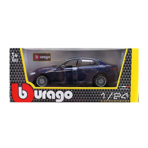 2016 Alfa Romeo Giulia Dark Blue Metallic 1/24 Diecast Model Car by Bburago