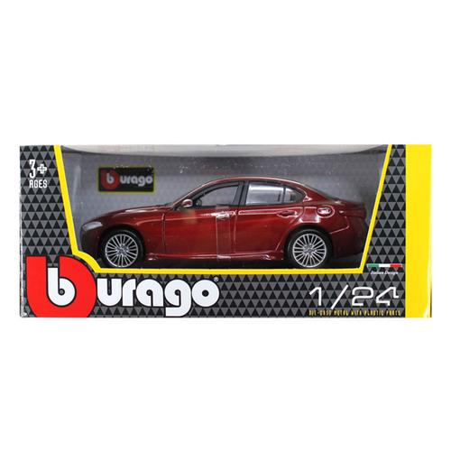 2016 Alfa Romeo Giulia Burgundy 1/24 Diecast Model Car by Bburago