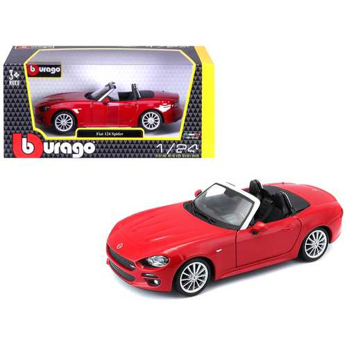 Fiat 124 Spider Coupe Red 1/24 Diecast Model Car by Bburago