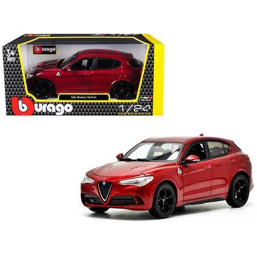 Alfa Romeo Stelvio Quadrifoglio Red 1/24 Diecast Model Car by Bburago