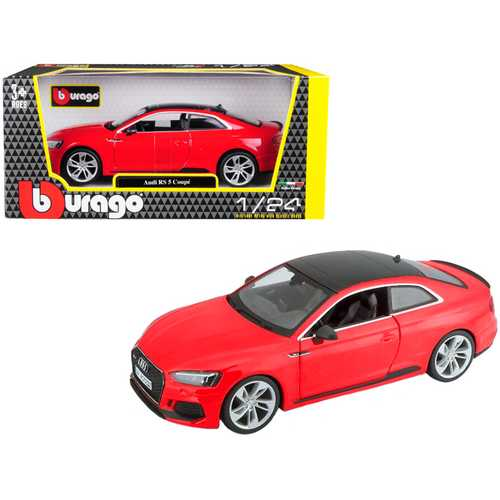 Audi RS 5 Coupe Red with Black Top 1/24 Diecast Model Car by Bburago