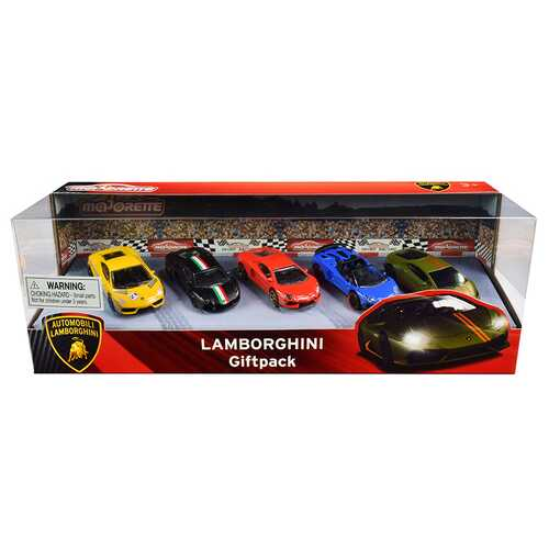 Lamborghini Giftpack 5 piece Set 1/64 Diecast Model Cars by Majorette
