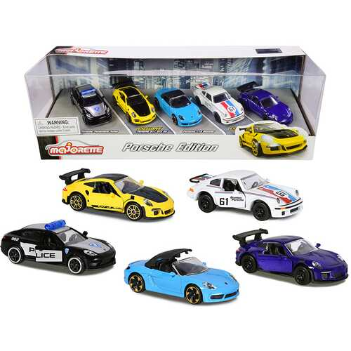 Porsche Giftpack 5 piece Set 1/64 Diecast Model Cars by Majorette