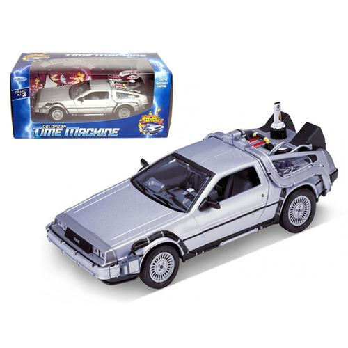 """Delorean From Movie """"Back To The Future 2"""" 1/24 Diecast Car by Welly"""
