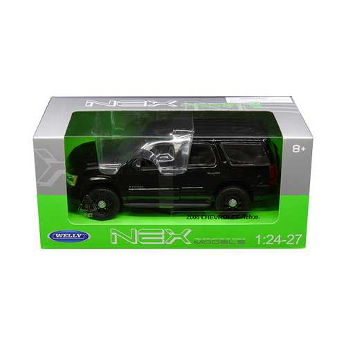 2008 Chevrolet Tahoe Unmarked Police Version Black 1/24 - 1/27 Diecast Model Car by Welly