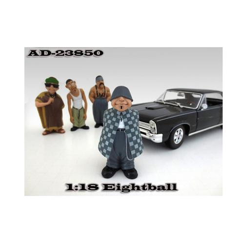 """Eightball \""""Homies\"""" Figure For 1:18 Diecast Model Cars by American Diorama"""