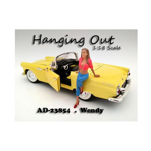 """Hanging Out"" Wendy Figurine for 1/18 Scale Models by American Diorama"