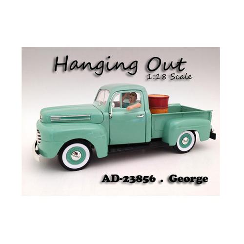 """Hanging Out"" George Figurine for 1/18 Scale Models by American Diorama"
