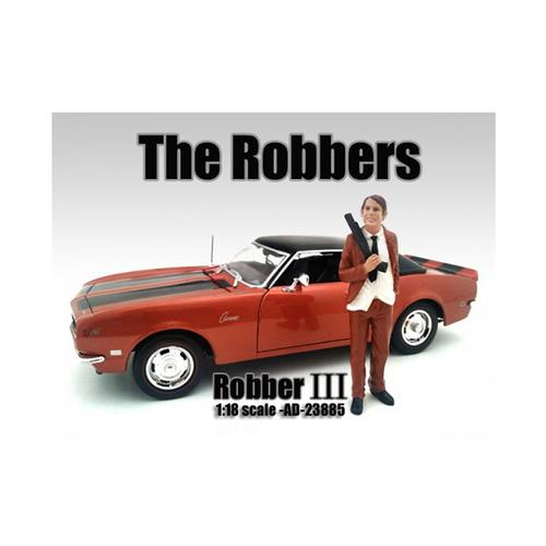 """""""The Robbers"""" Robber III Figure For 1:18 Scale Models by American Diorama"""
