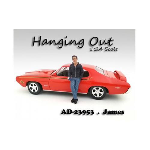 """Hanging Out"" James Figurine / Figure For 1:24 Scale Models by American Diorama"