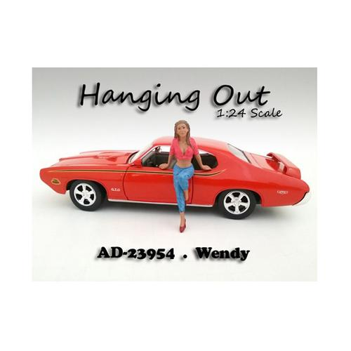 """Hanging Out"" Wendy Figurine for 1/24 Scale Models by American Diorama"