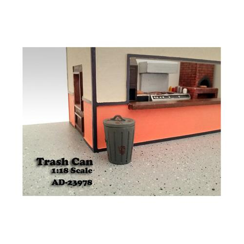 Trash Can Accessory Set of 2 For 1:18 Scale Models by American Diorama