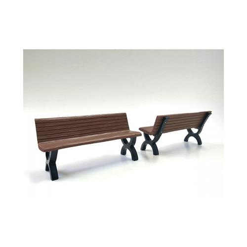 Bench Accessory 2 Pieces Set for 1:18 Scale Models by American Diorama