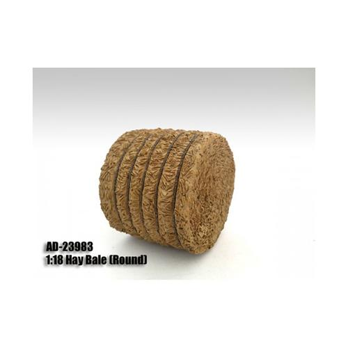 Hay Bale Round Accessory 1:18 Scale Models by American Diorama