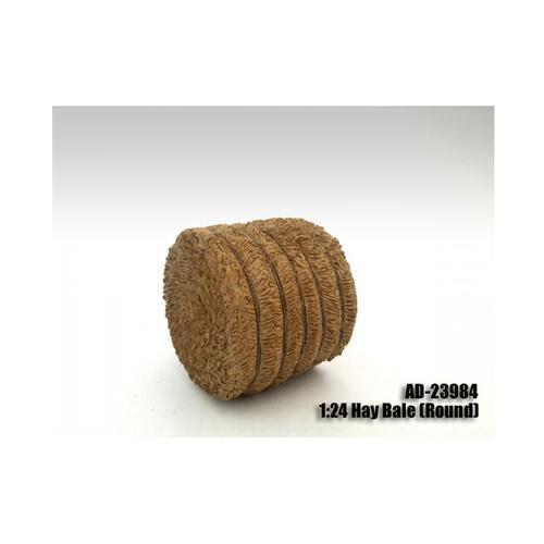 Hay Bale Round Accessory 1:24 Scale Models by American Diorama