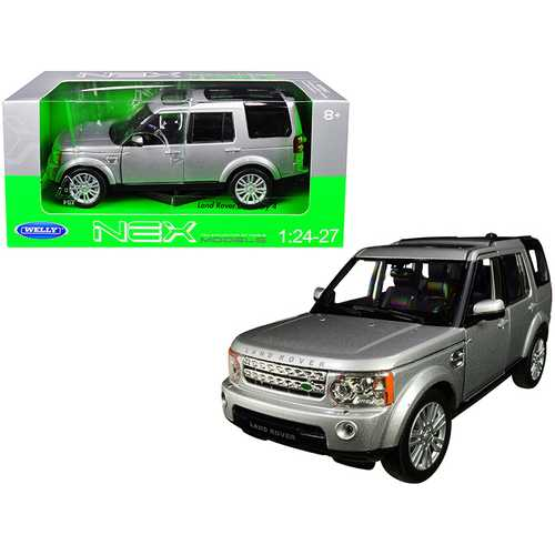 Land Rover Discovery 4 Silver 1/24-1/27 Diecast Model Car by Welly