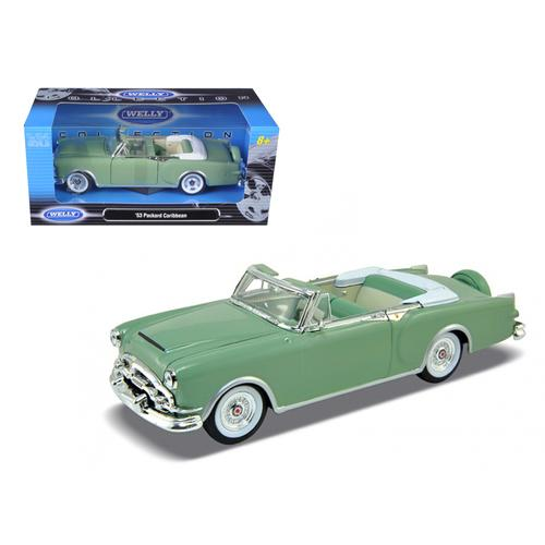 1953 Packard Caribbean Convertible Green 1/24 Diecast Car Model by Welly