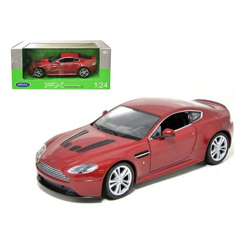 2010 Aston Martin V12 Vantage Red 1/24 Diecast Model Car by Welly