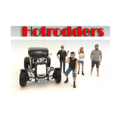 """Hotrodders"" 4 Piece Figure Set For 1:24 Scale Models by American Diorama"