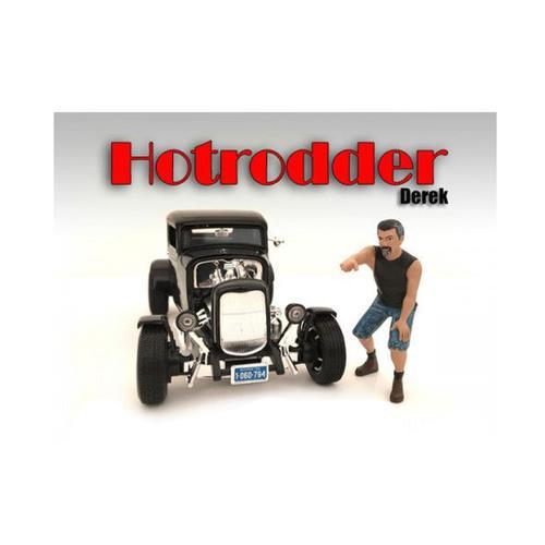 """""""Hotrodders"""" Derek Figure For 1:24 Scale Models by American Diorama"""