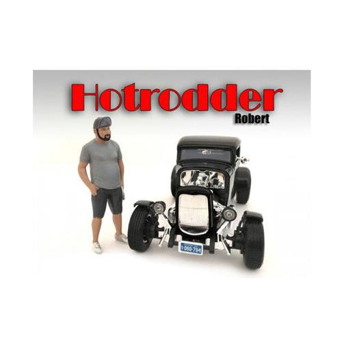 """""""Hotrodders"""" Robert Figure For 1:24 Scale Models by American Diorama"""