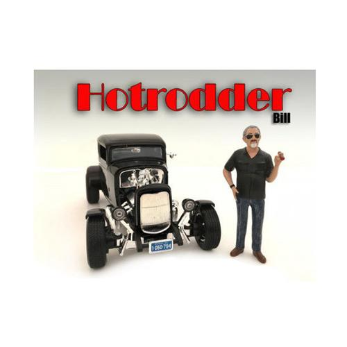 """Hotrodders"" Bill Figure For 1:24 Scale Models by American Diorama"