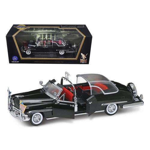 1950 Lincoln Cosmopolitan Bubble Top Limousine with Flags 1/24 Diecast Model Car by Road Signature