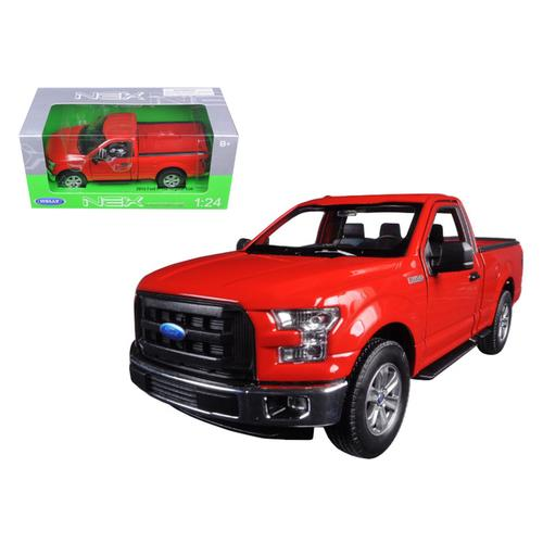 2015 Ford F-150 Pickup Truck Regular Cab Red 1/24 Diecast Model by Welly