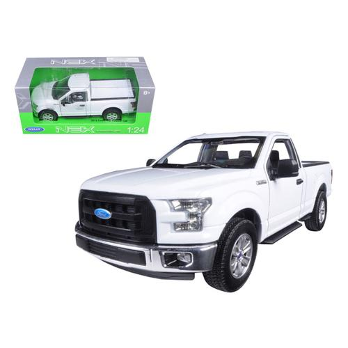 2015 Ford F-150 Pickup Truck Regular Cab White 1/24 Diecast Model by Welly