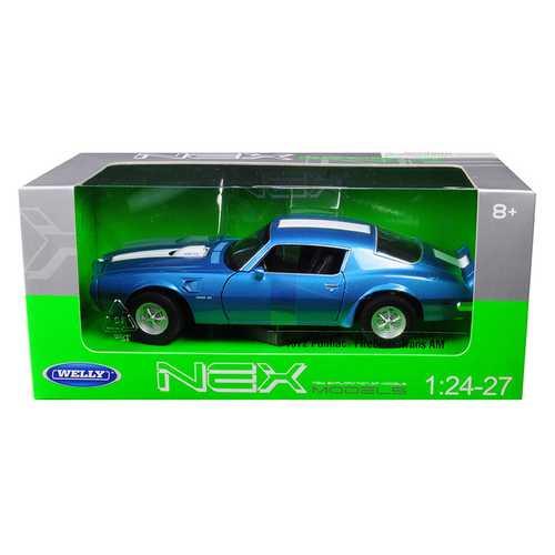 1972 Pontiac Firebird Trans Am Blue Metallic 1/24-1/27 Diecast Model Car by Welly