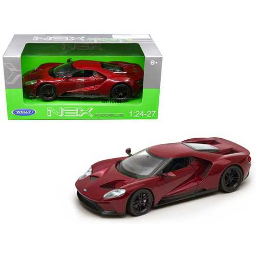 2017 Ford GT Red 1/24 - 1/27 Diecast Model Car by Welly
