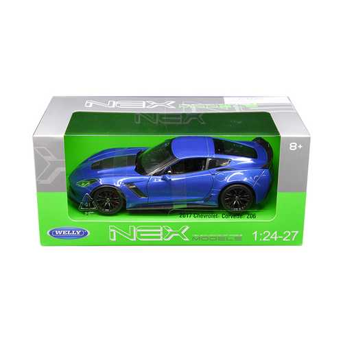 2017 Chevrolet Corvette Z06 Blue 1/24 - 1/27 Diecast Model Car by Welly