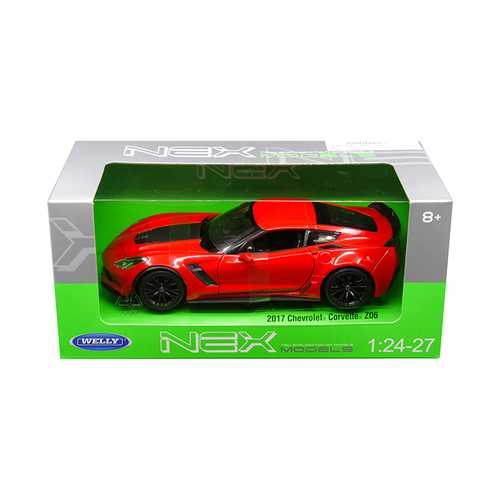 2017 Chevrolet Corvette Z06 Red 1/24 - 1/27 Diecast Model Car by Welly
