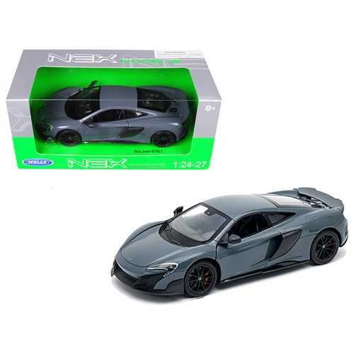 McLaren 675LT Coupe Gray 1/24-1/27 Diecast Model Car by Welly