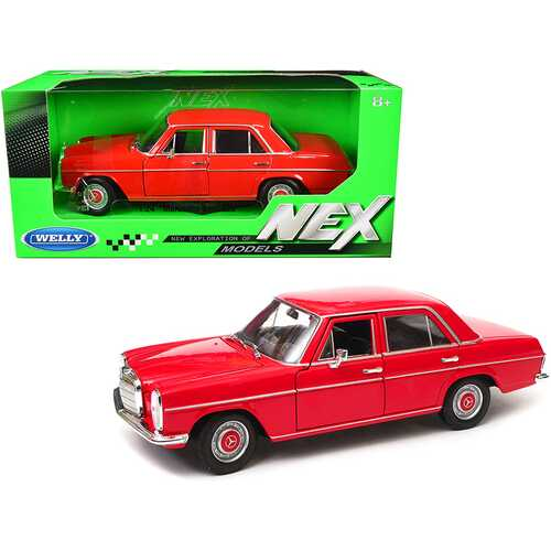 "Mercedes Benz 220 Red ""NEX Models"" 1/24 Diecast Model Car by Welly"