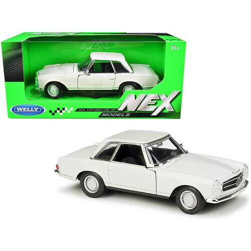 """1963 Mercedes Benz 230SL Coupe Cream """"NEX Models"""" 1/24 Diecast Model Car by Welly"""