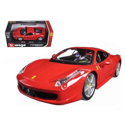 Ferrari 458 Italia Red 1/24 Diecast Model Car by Bburago