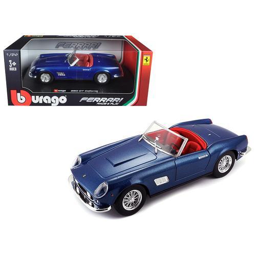 Ferrari 250 GT California Spider Blue 1/24 Diecast Model Car by Bburago
