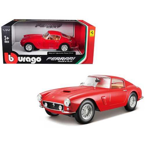 Ferrari 250 GT Berlinetta Passo Corto Red 1/24 Diecast Model Car by Bburago
