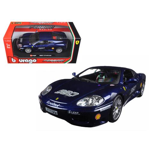 Ferrari 360 Challenge Blue 1/24 Diecast Model Car by Bburago