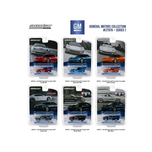 General Motors Collection Series 1, 6pc Set  1/64 Diecast Model Cars by Greenlight