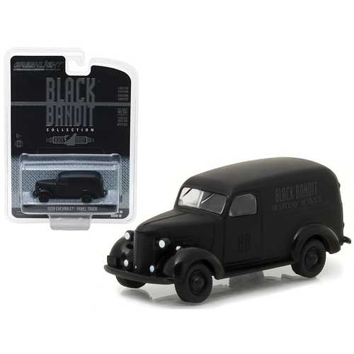 1939 Chevrolet Panel Van Black Bandit 1/64 Diecast Model Car by Greenlight