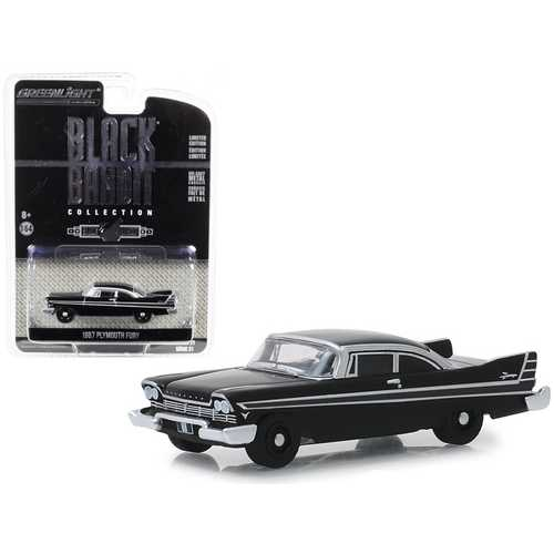 "1957 Plymouth Fury ""Black Bandit"" Series 21 1/64 Diecast Model Car by Greenlight"