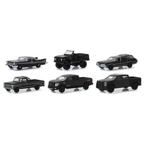 """Black Bandit"" Series 21, 6 piece Set 1/64 Diecast Model Cars by Greenlight"
